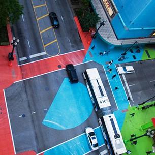 Перекрёсток Color Jam в Чикаго является самым ярким перекрёстком в мире