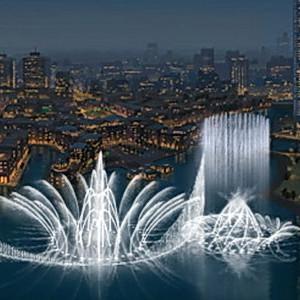 «Поющие» фонтаны в Дубае