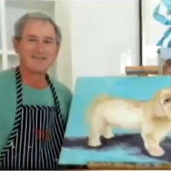Джордж Буш написал портреты мировых политиков